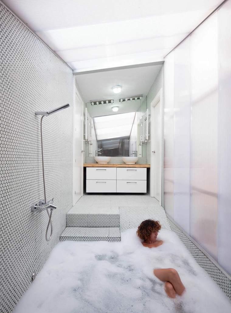 Dise o de ba os en color gris 50 ideas inspiradoras for Mosaicos banos modernos