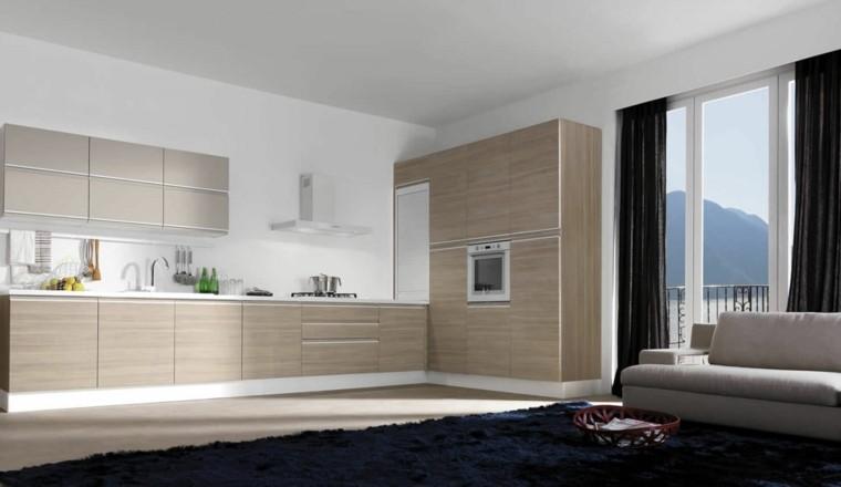Distribucion en l ideas de lujo para cocinas pr cticas - Soluciones para muebles de cocina en esquina ...