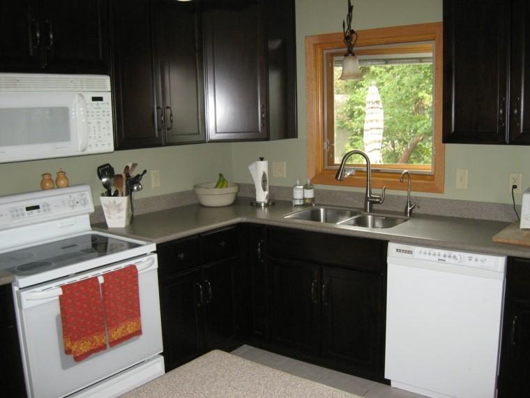 Distribucion en l ideas de lujo para cocinas pr cticas for Cheap basic kitchen units