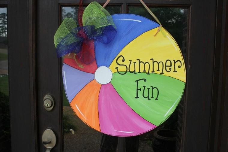 divertido pelota colorido puerta lazo
