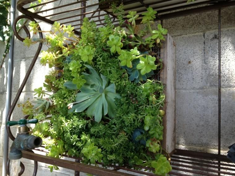 diy paredes ladrillos forja verde