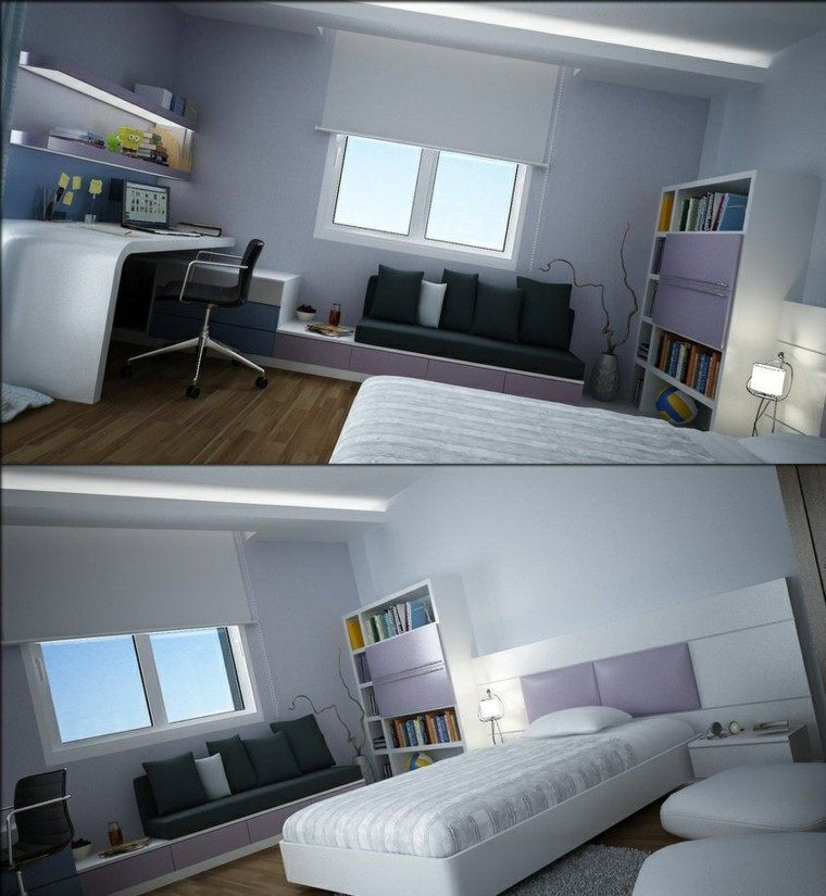 Fotos habitaciones juveniles para chicos y chicas modernos for Cuarto universitario