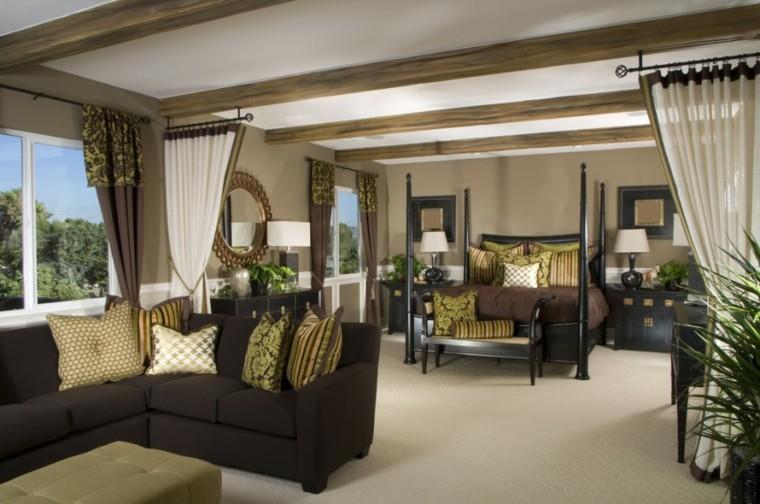 Decoraci n dormitorios matrimoniales 50 ideas elegantes - Cortinas dormitorio principal ...