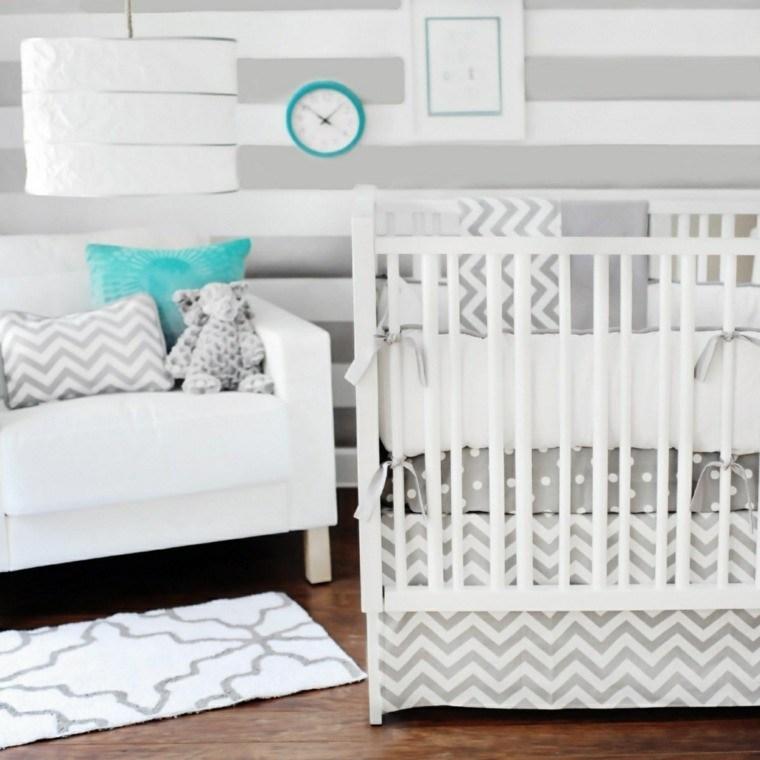 decoracion habitacion bebe rosa dormitorio bebe deco gris blanco