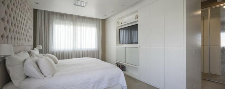 Dormitorios matrimonio modernos 70 ideas sensacionales for Cortinas para dormitorio blanco