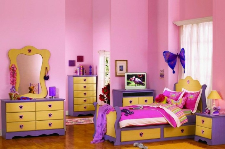 habitacion juvenil chica varios colores