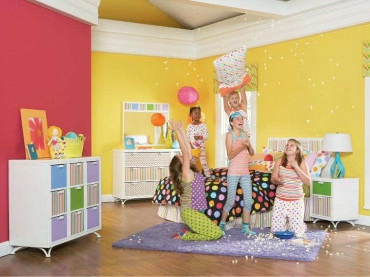 Habitacion juvenil chica - diseños llenos de color