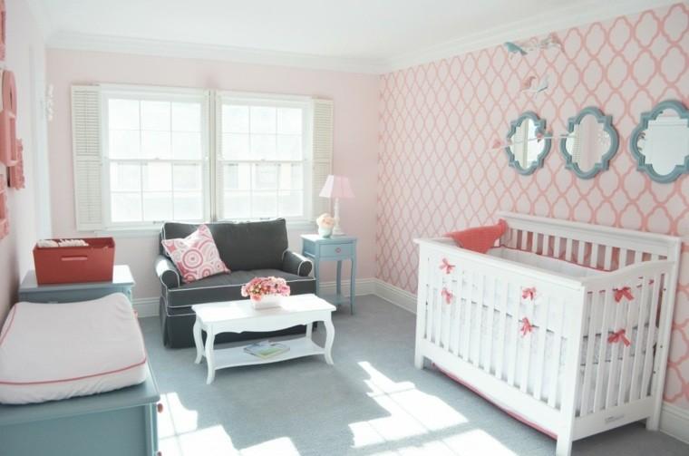 dormitorio decoracion celeste rosa