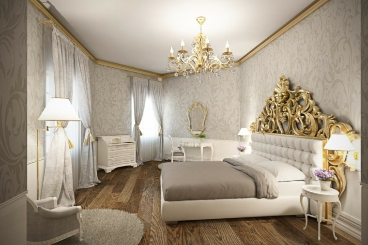white and gold bedroom furniture decoraci 243 n dormitorios matrimoniales 50 ideas elegantes 20134