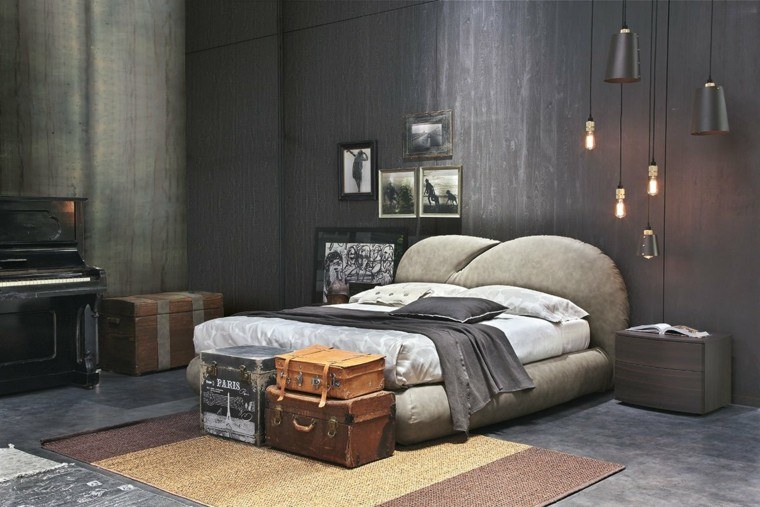 Dormitorios matrimonio modernos 50 ideas sensacionales for Paredes estilo industrial