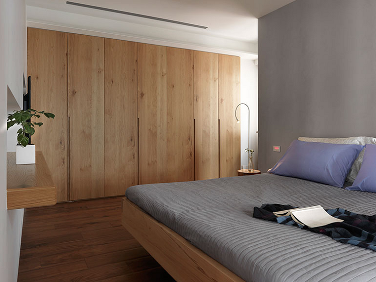 Interiores minimalistas 100 ideas para el dormitorio for Puertas de madera interiores minimalistas