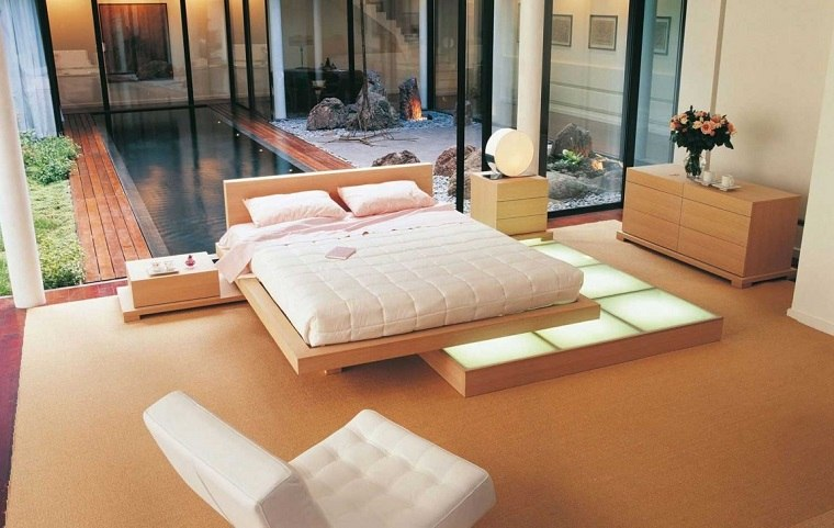 dormitorio estilo minimalista moderno asiatico ideas