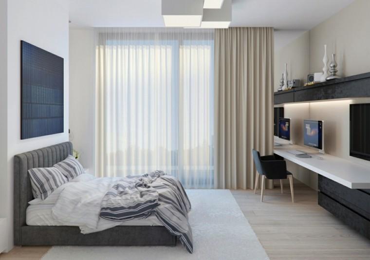 Interiores minimalistas 100 ideas para el dormitorio for Escritorio para recamara