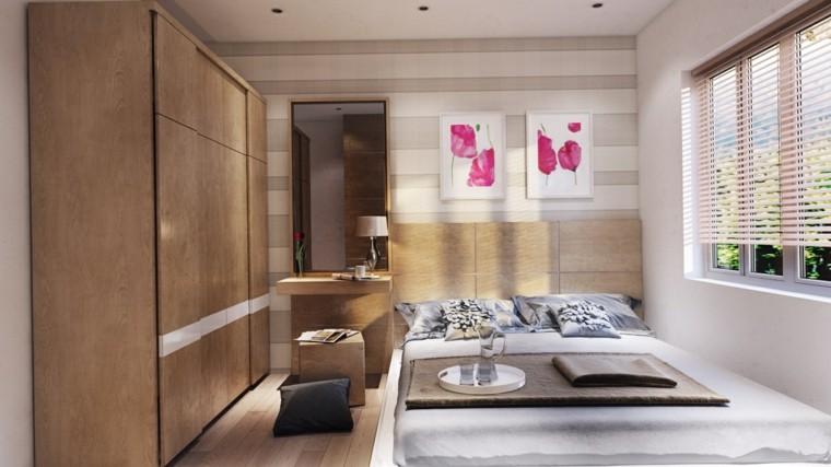 dormitorio estilo minimalista moderno cuadros pared ideas