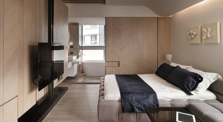 dormitorio estilo minimalista moderno decoracion pared ideas