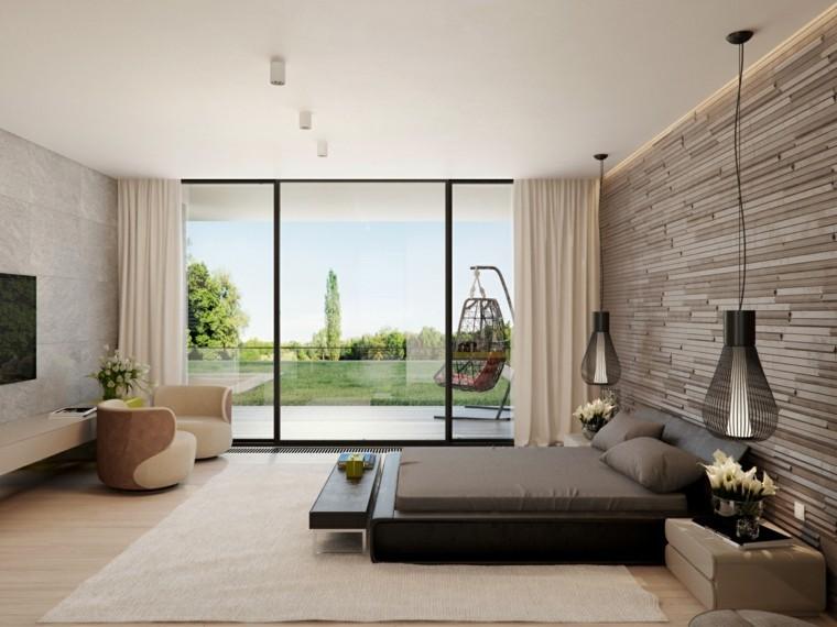 Interiores minimalistas 100 ideas para el dormitorio - Dormitorio diseno moderno ...
