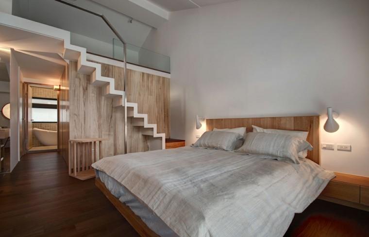 dormitorio estilo minimalista moderno escalera ideas