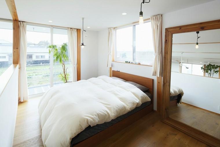dormitorio estilo minimalista moderno espejo grande ideas