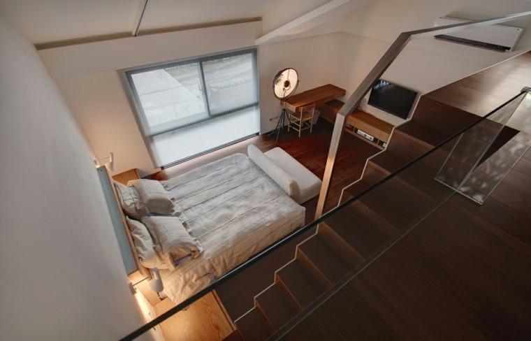 dormitorio estilo minimalista moderno lampara original ideas