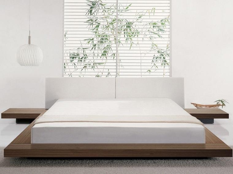 dormitorio estilo minimalista moderno plataforma madera ideas