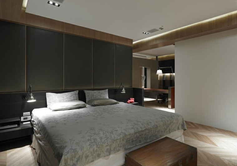 dormitorio estilo minimalista moderno ropa cama flores ideas