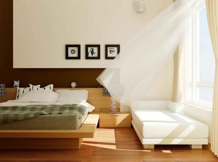 dormitorio estilo minimalista moderno sofa blanca ideas