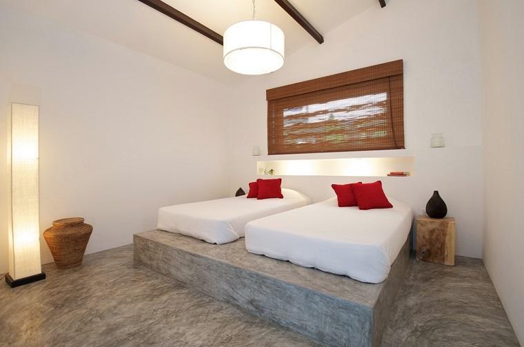 dormitorio estilo minimalista moderno suelo gris ideas