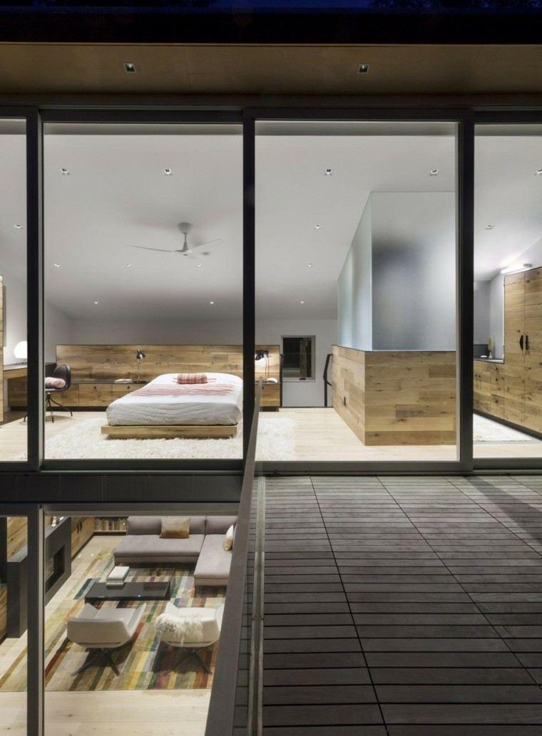 dormitorio estilo minimalistas alfombra blanca ideas