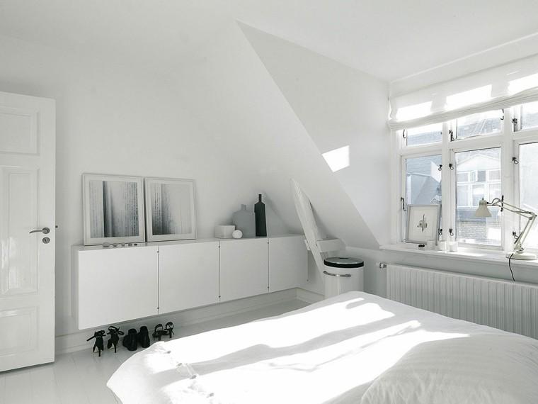 dormitorio estilo minimalistas armarios blancos ideas