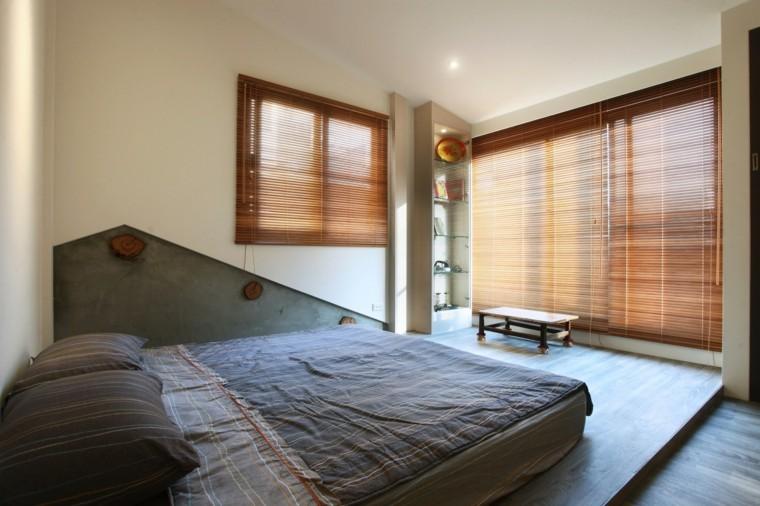 dormitorio estilo minimalistas estores madera ideas