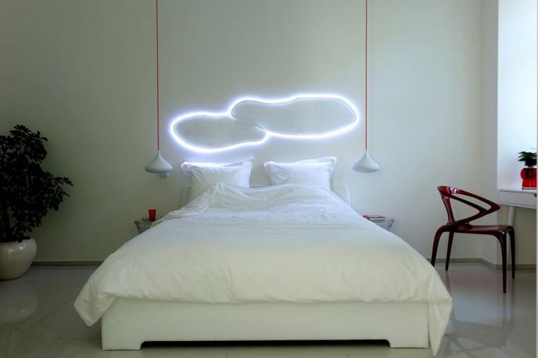 dormitorio estilo minimalistas iluminacion LED ideas