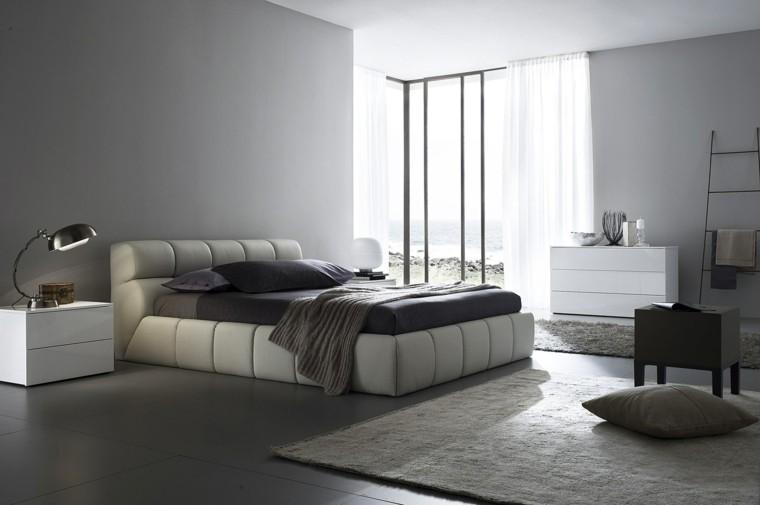 dormitorio estilo minimalistas moderno cama blanca ideas
