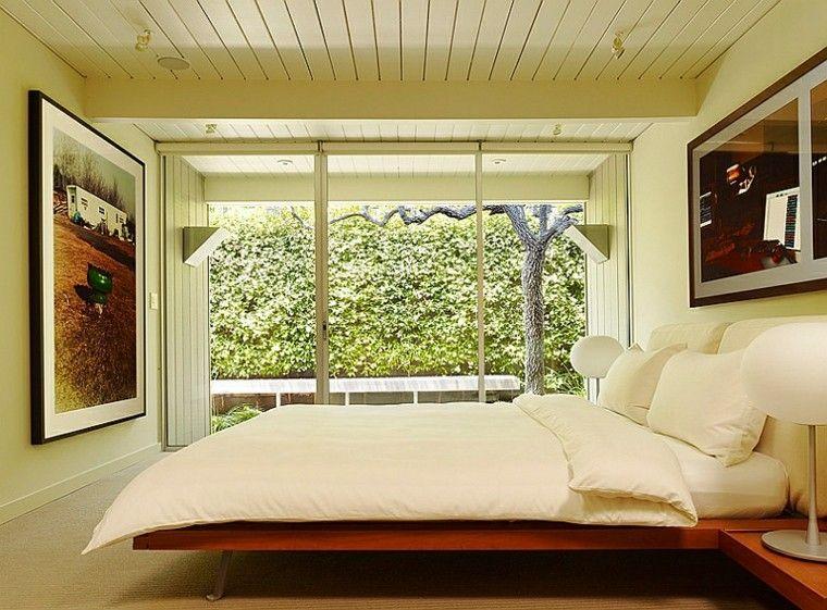 dormitorio estilo moderno cuadros pared decorativos ideas