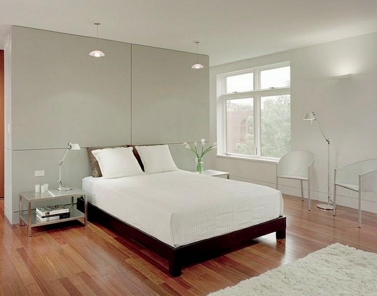 dormitorio estilo minimalistas moderno mesas noche-acero ideas