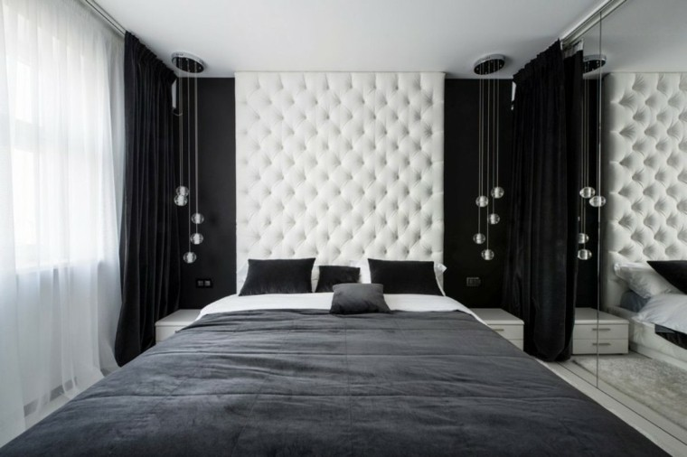 black and white modern bedroom interiores minimalistas 100 ideas para el dormitorio 18340