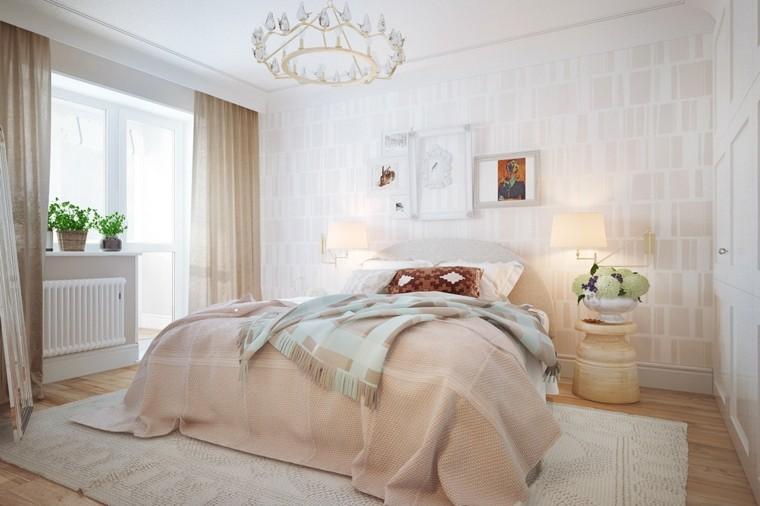 Interiores minimalistas 100 ideas para el dormitorio - Camas estilo romantico ...