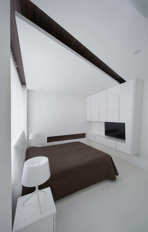 dormitorio estilo minimalistas ropa cama marron oscuro ideas