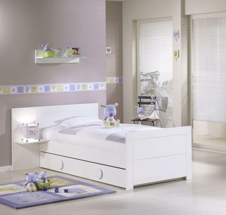 dormitorio infantil casa niños blanco