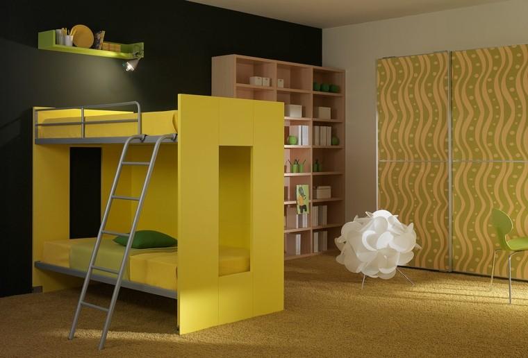 dormitorio infantil litera esfera blanca