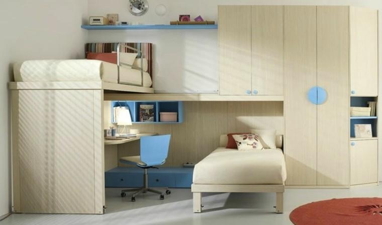 dormitorio infantil litera juegos silla