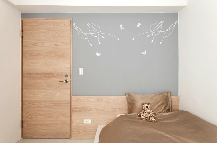 dormitorio infantil oso gris neutral