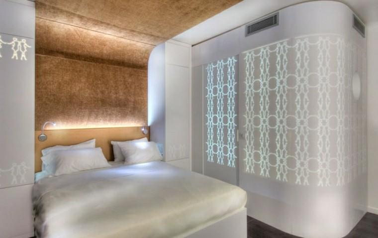 dormitorio lujo pared iluminada cama grande ideas