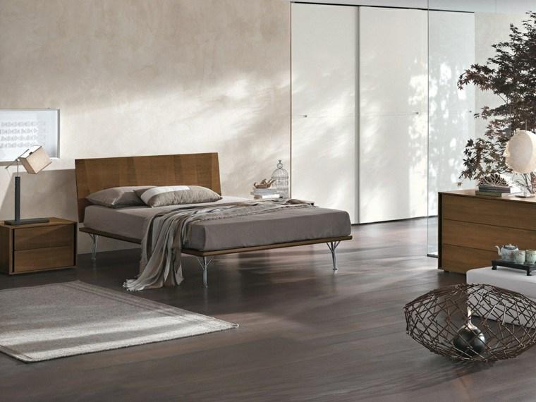 dormitorio moderno armario empotrado pared blanco ideas