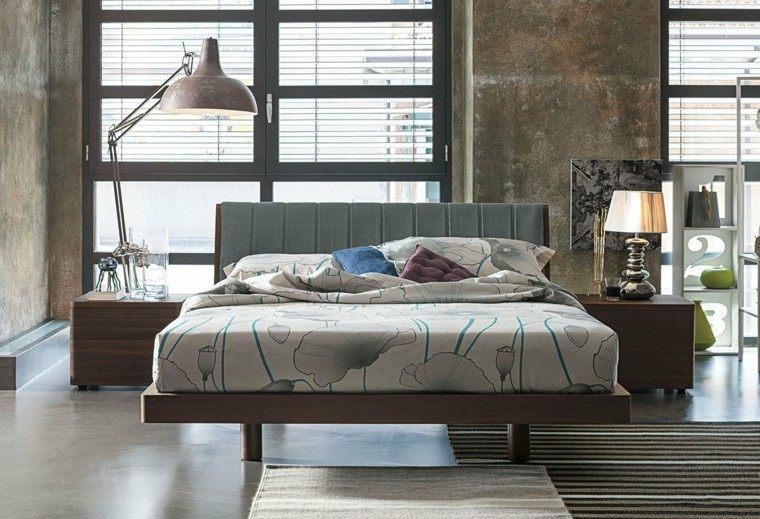 dormitorio moderno lampara mesita noche pie ideas