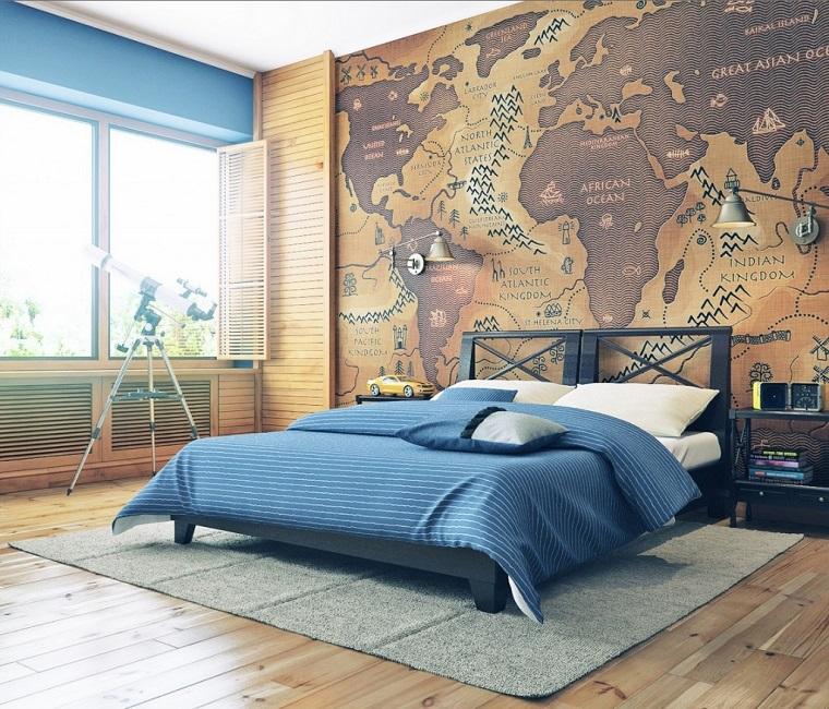Globos y mapas para decorar la casa con estilo - Decorar paredes ninos ...