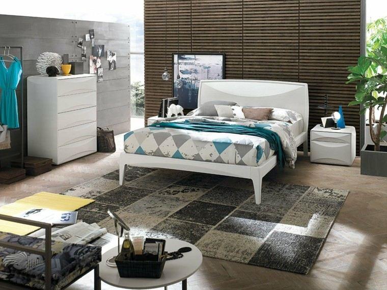 dormitorio moderno planta maseta mesa silla ideas
