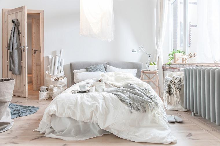 dormitorio moderno romantico suelo puertas madera ideas