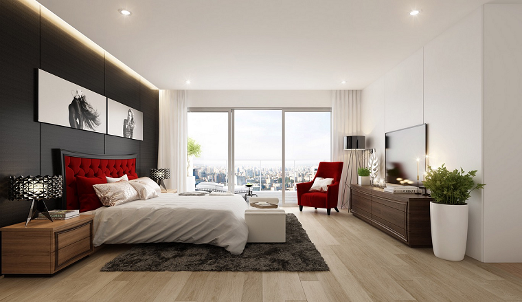 Dormitorios matrimonio modernos 70 ideas sensacionales for Dormitorio principal m6 deco