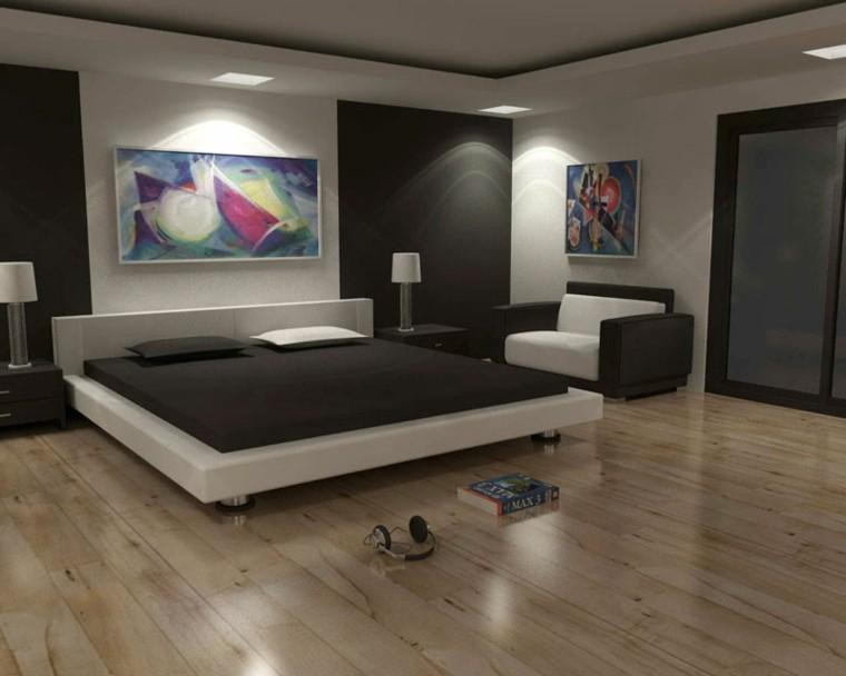 dormitorio estilo moderno suelo madera