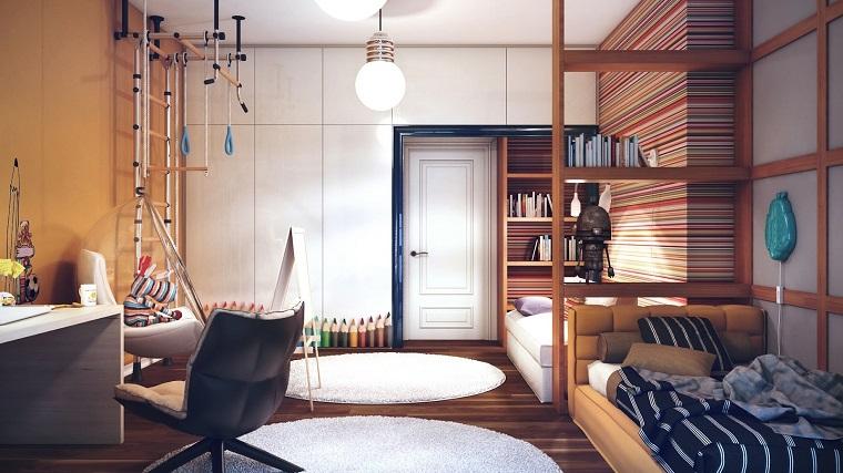 Habitaciones ni o moderno con estilo propio - Sillas colgantes del techo ...